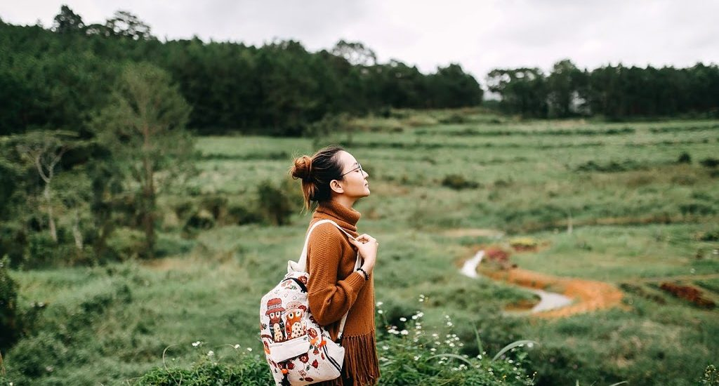 Picture of Travel Girl with Nature